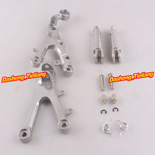 Aluminum Alloy Front Rider Foot Pegs Footrest Brackets for Yamaha 2006 2011 YZF R6 Motorcycle Spare