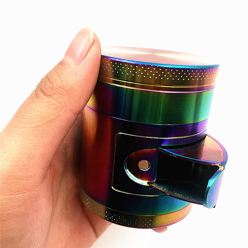 4 Layers 55mm Zinc Metal Spice Tobacco Herb Weed Grinder for