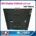 Novo led de com 768 * 768 mm para p6 led de 384 * 192 mm interior parede de vídeo