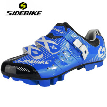 SIDEBIKE Mountain Bike Mens Self-locking Cycling Shoes Antiskid Zapatos MTB Ciclismo De Ruta Blue Sneakers Bicycle Equipment