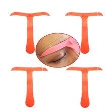 4pcs/Set Permanent Makeup Eyebrow Tool Classic Tattoo Stencil Ruler Marker Template Eye Cosmetic Magical Grooming Shape Model
