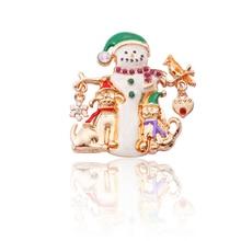 Male Lady Christmas Santa Brooch Pin Snowflake Heart Bird Animal Dog Deer For Fashion Jewelry