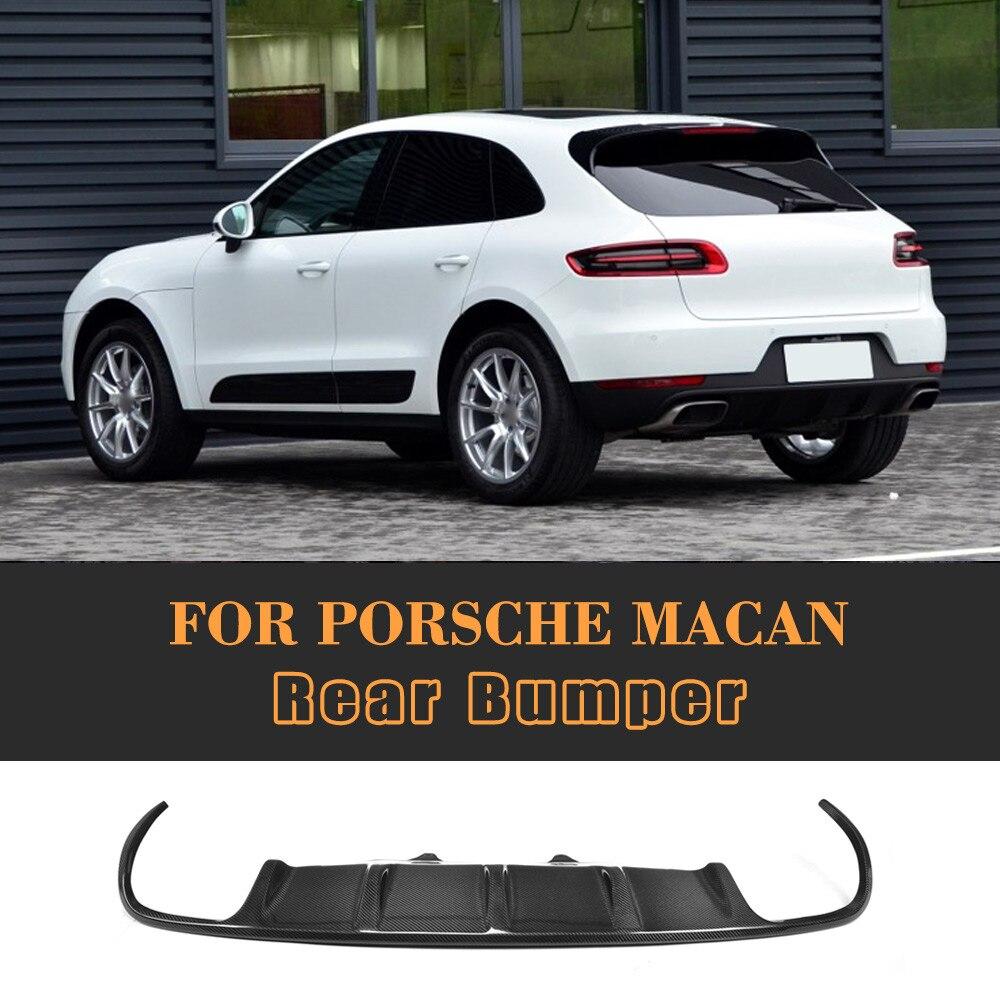 carbon fiber car rear bumper diffuser lip fit for Porsche MACAN 2014