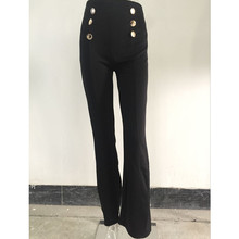 High Waist Wide Flare Office Trousers