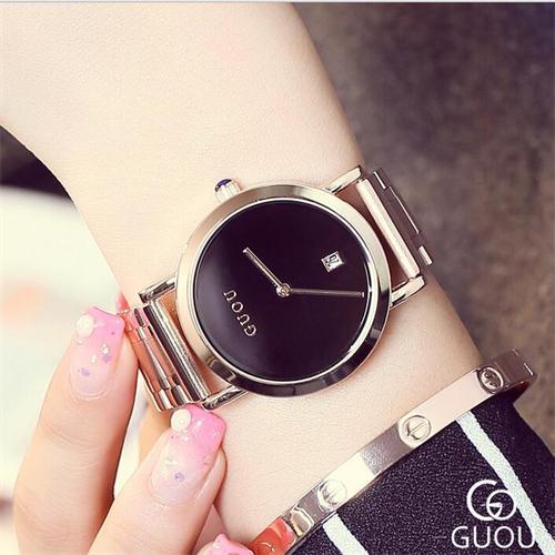 Luxury Watch Women Watches Fashion Stainless Steel Womens Auto Date Ladies Birthday Gifts