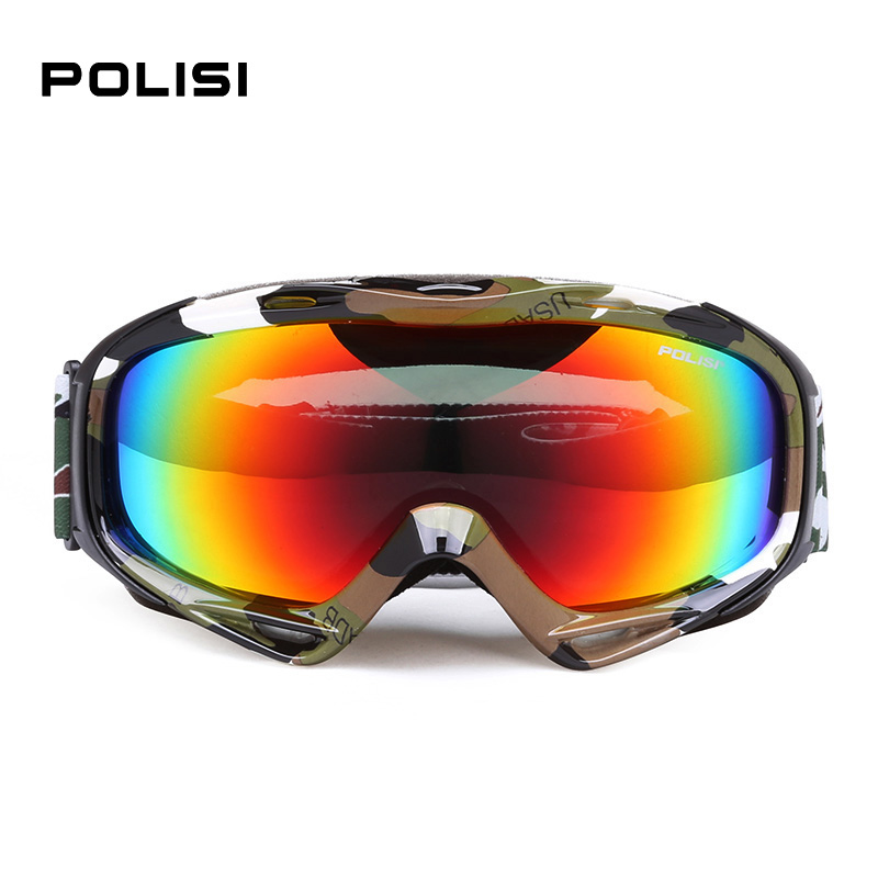 POLISI UV Protection Anti Fog Polarized Ski goggles Double Anti-fog Big Ski Glasses Skiing Men Women Snow Snowboard Goggles P80 foldable anti glare polarized windproof goggles anti fog glasses unisex