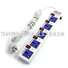 3 м Кабель США Розетки 5 Outlet Power Strip Splitter 250В АС Plug