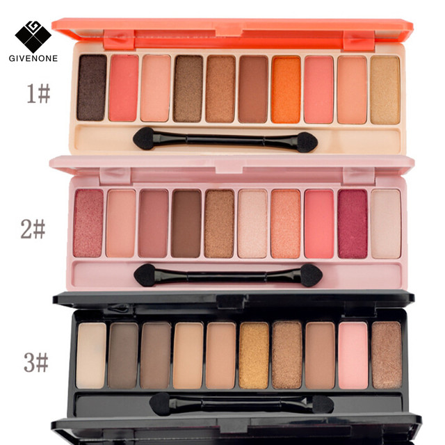 GIVENONE 10 Colors Fashion eyeshadow palette Matte EyeShadow palette Glitter eye shadow MakeUp Nude MakeUp set Korea makeup 2