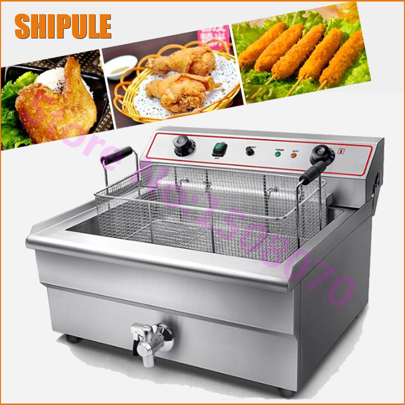 stainless steel 30L high capacity chicken machine used commercial deep fryer chicken frying electric machine with 1 tanks 2 6l air fryer without large capacity electric frying pan frying pan machine fries chicken wings intelligent deep electric fryer