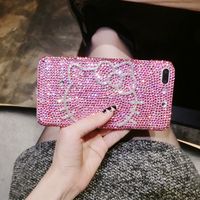 Hello Kitty Luxury Full Rhinestone Case For OPPO R7 R7S R9 R9S R11 R11s R15 Plus A3 A37 A39 A57 A59 A71 A77 A83 F1 F1s F3 F5 F7