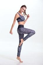 women's sports suits 2pcs set  purple yoga bra top gym yoga pants leggins women sport leggings fitness clothes gym-clothing