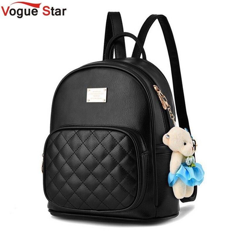Vogue Star 2019 mochila de mujer de moda para niñas mochilas negras mochilas de moda femenina niñas bolsos señoras Negro Mochila LA264