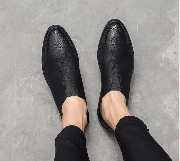 Zapatos Resbalón De Punta Pic en Los Suave Transpirable Verano As Nueva Hombres En Tallado Mocasines Casual chocolate Moda Px1ntqIPS