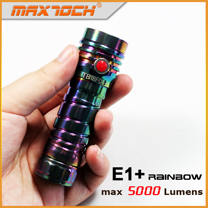 MAXTOCH Rainbow E1 5000lm Stepless Dimming Function Magnetic Bottom Clip High Output in Mini Tiny Size