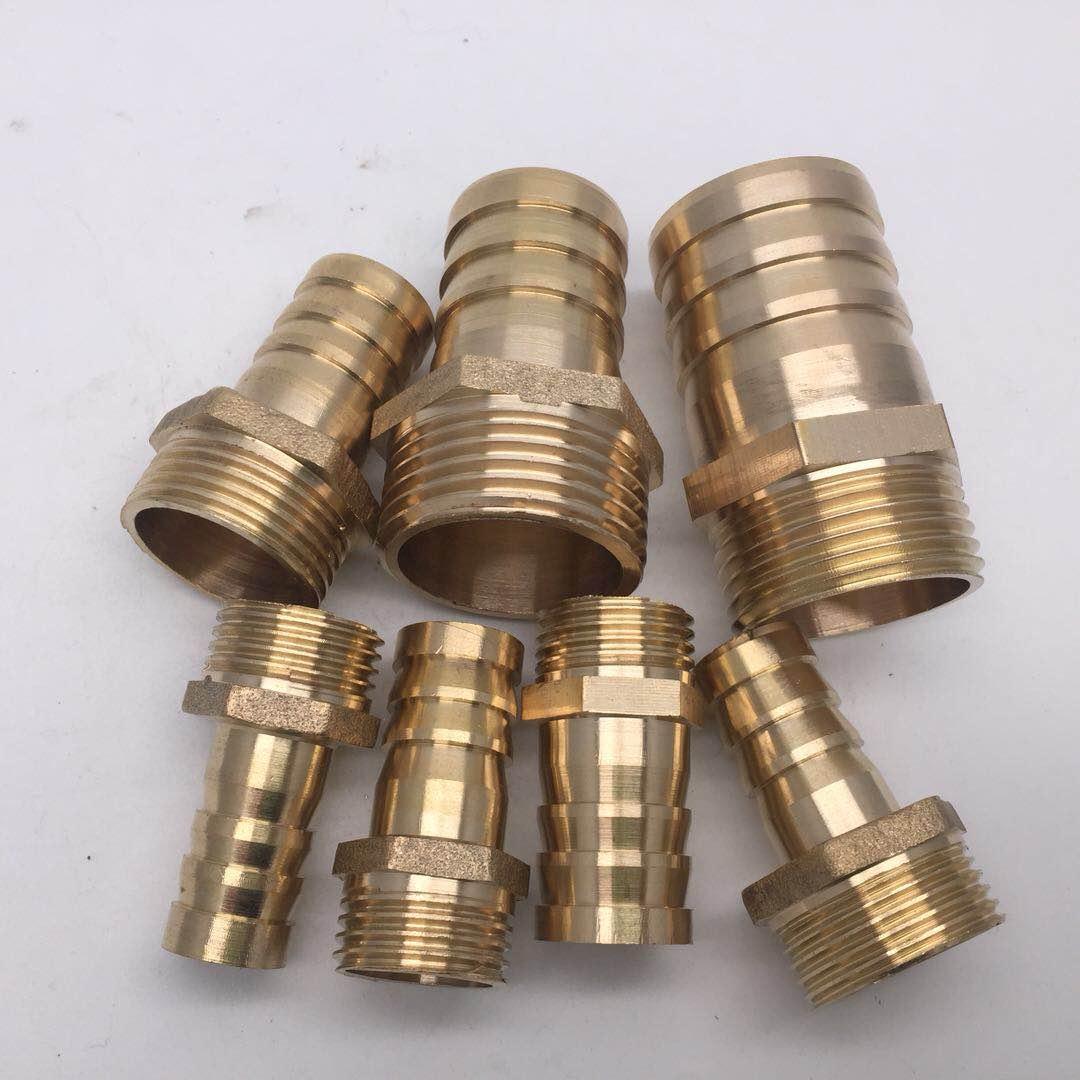 Color: PU10 Fevas 4pcs//lot PU6 PU8 PU10 PU12 Copper Pagoda Joint Brass Joint//Water Pipe//Gas PU-6 PU-8 PU-10 PU-12 Brass Pipe Fitting 2-Way Type
