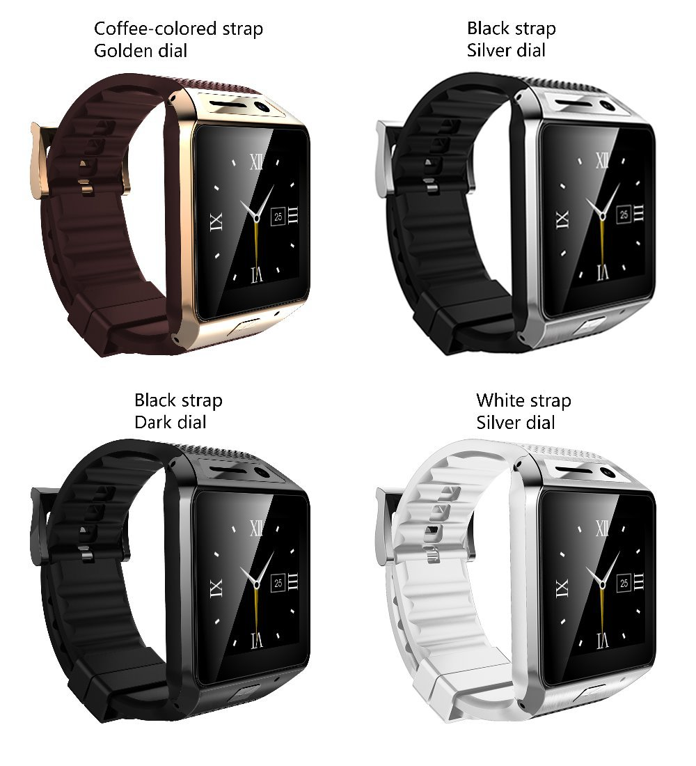 Free DHL SmartWatch GV08S SIM Card Smart Watch For Men/Women 4 Colors Bluetooth 3.0 Compatible With All Smart Mobile phones 2.0M 1pc electric wire terminal crimping plier hs 16 cable crimper tool awg 16 6 1 25 16mm2 multi hand tool