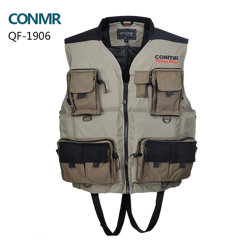 Men Fishing vest professional fishing life vest multi-pocket waterproof waistcoats apparel hunting vest YKK zipper free shipping professional multi pocket fly fishing vest sleeveless waterproof life rescue jacket outdoor photography clothing sea wear shirts