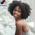 Natural Hairstyle African Human Hair Wig Brazilian Afro Kinky  Lace Front Wig Glueless Full Lace Human Hair Wigs For Black Women