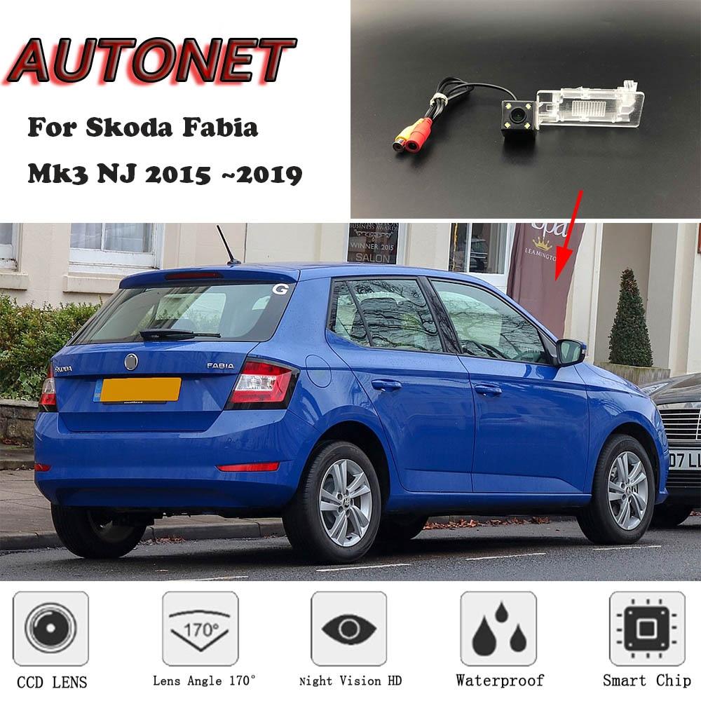 AUTONET Backup Rear View Camera For Skoda Fabia Mk3 NJ 2015 2016 2017 2018 2019 Night Vision/license Plate Camera/parking Camera