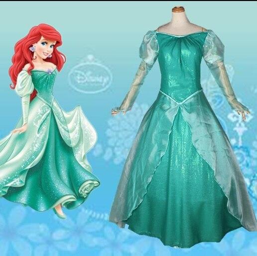La Sirenita Ariel Princesa Vestido Cosplay Adulto Ariel
