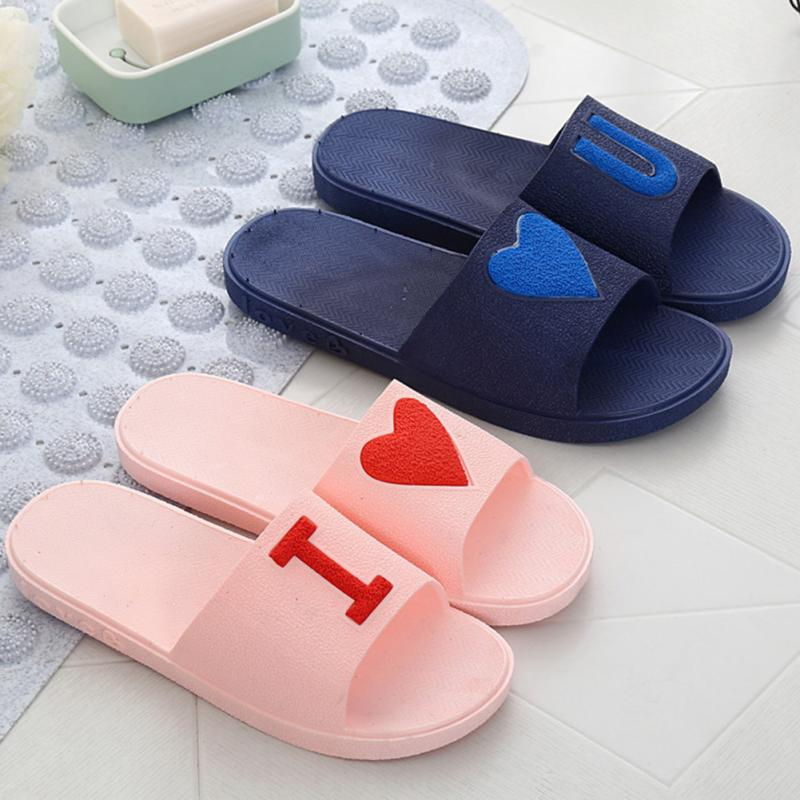 Casual Home Couples Slippers Summer Indoor Bathroom Shower Slippers Sandals Beach Shoes new leisure men shoes bathroom skidproof flat slippers summer home slippers casual indoor shoes soft beach sandals hot sale