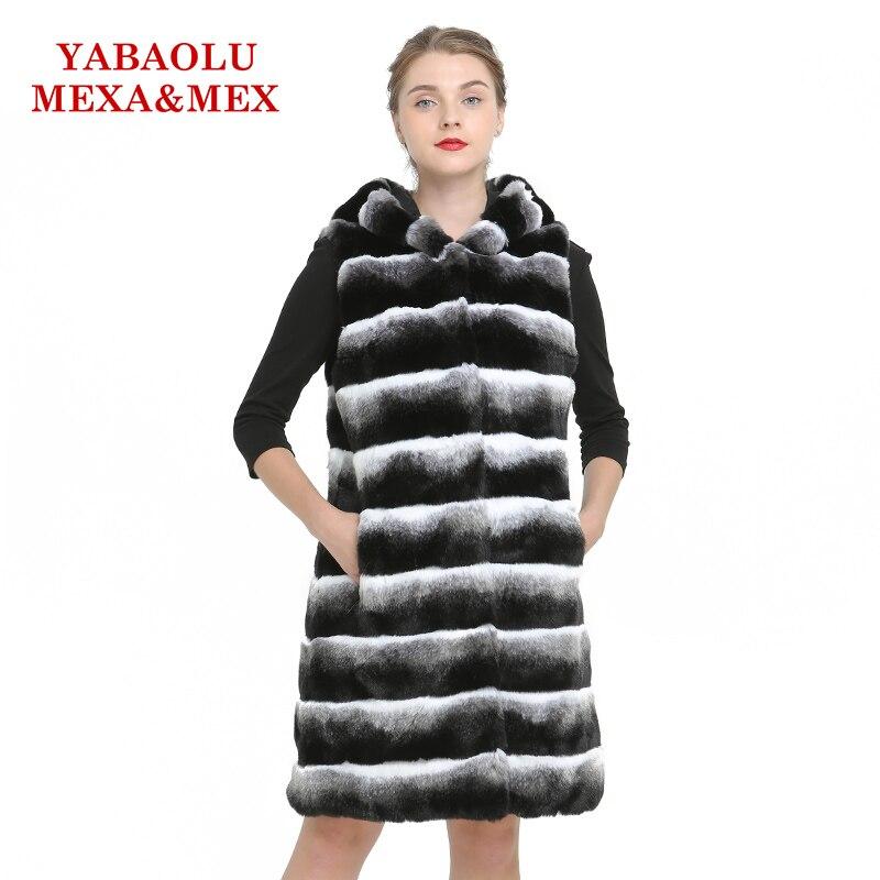 Mujeres Conejo Rex Mujer Fur Ropa Chaleco Abrigo Chaquetas