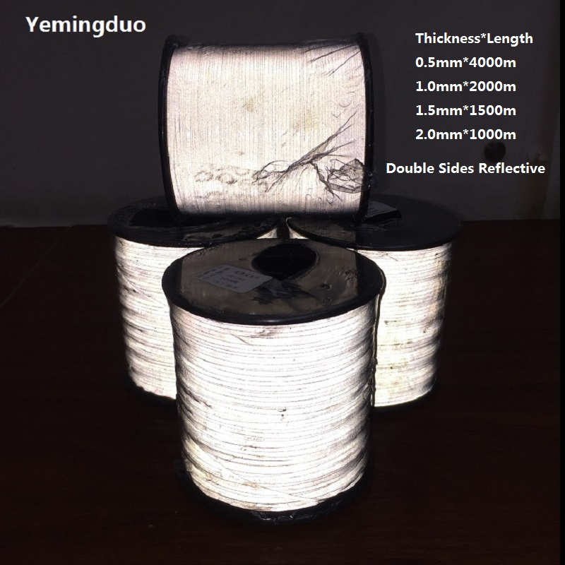 0.5mm/1.0mm/1.5mm/2.0mm  Reflective Thread Normal/Hight Light Brightness Two Side Reflective Effection-in Warning Tape from Security & Protection    1