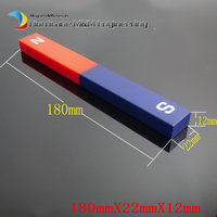 6pcs Magnet Bar Type Plastic Sealed 180x22x12 Mm Blue Red Toy Magnet Office Magnet Magnetic Teaching