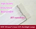 Бесплатная Доставка 10 шт. Универсальный 19 дюймов 4:3 Подсветка CCFL Лампы 381 мм * 2.4 мм для ЖК-Монитор