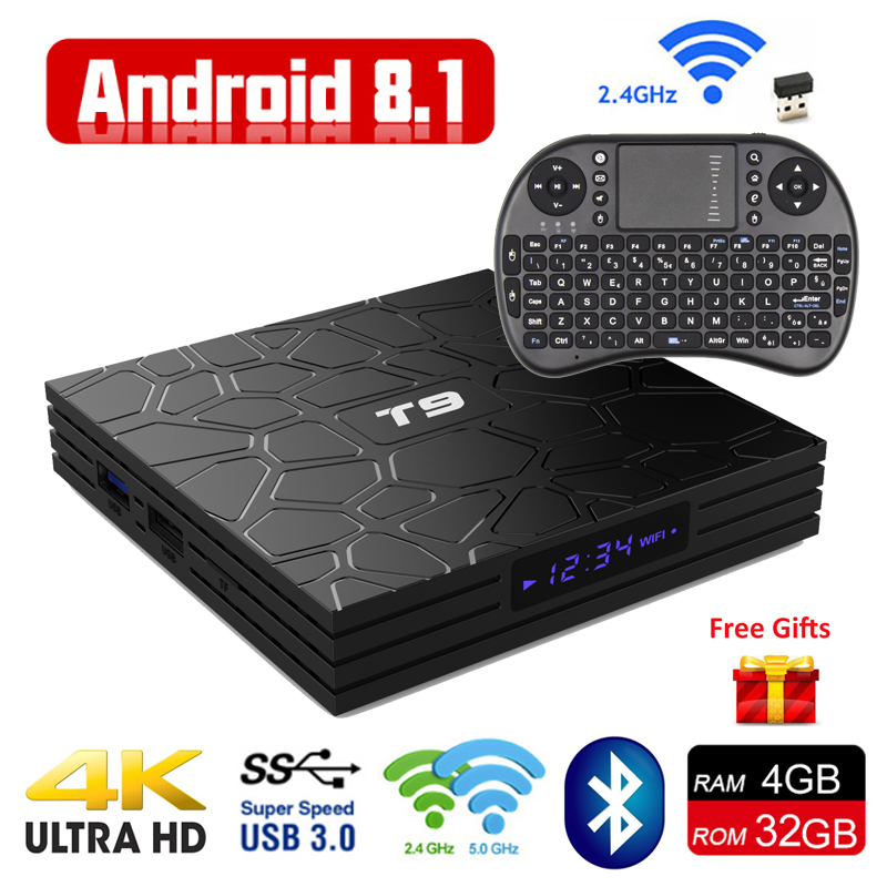 Android 8.1 4G 32G 64G Set Top Boxes 4K Ultra HD H.265 Smart TV Box Android 8.1 USB 3.0 Dual Wifi 2.4G/5G Bluetooth Media Player ugoos ut3s android linux dual boot rk3288 4g 32g media player