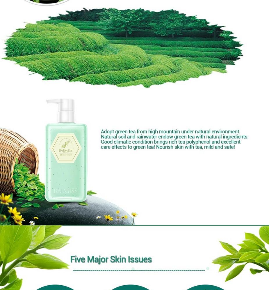 BAIMISS Green Tea Deep Repair Body Cream Body Lotion Moisturizing Soothing Whitening Cream Anti Wrinkle Skin Care Body Care 12