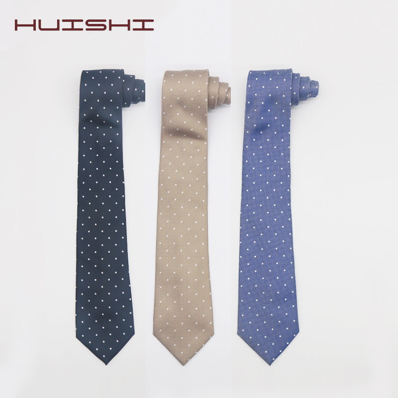 Fashion Polka Dot Men Cravat Polyester Ties For Gentlemen