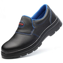 2019 new fashion mens plus size steel toe cap work safety shoes black slip-on platform construction worker security boots zapato все цены