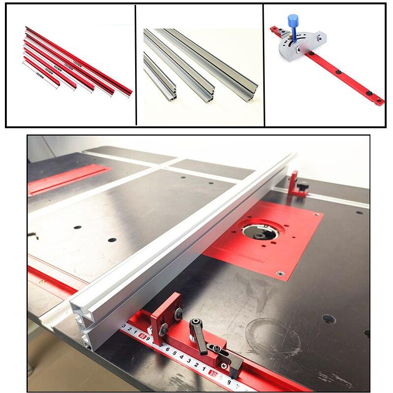 400mm/600mm/800mm Standard Aluminium T-track 45mm Width Profile 75mm Height With T-tracks Miter Gauge Accessories DIY Tool