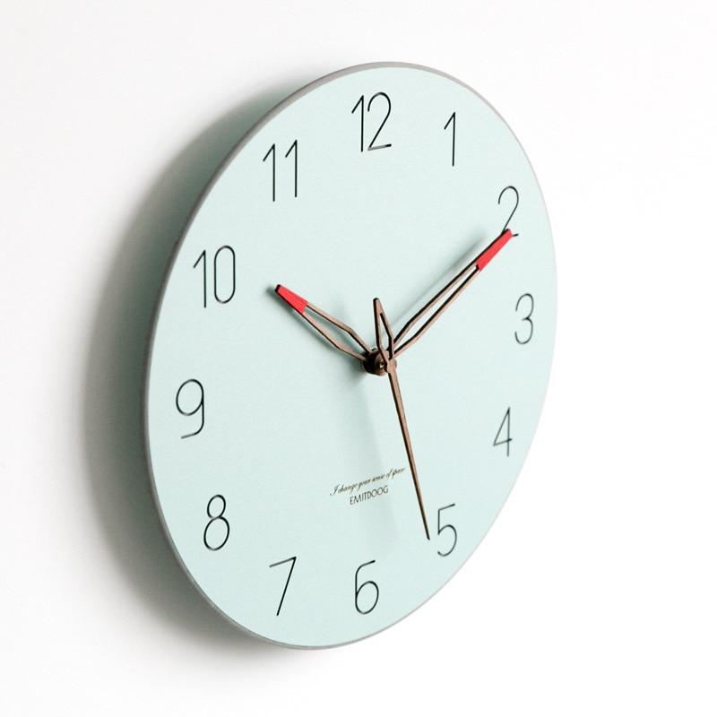 Bref Style grande horloge murale Design moderne montre nordique mouvement Quartz silencieux horloges en temps réel tenture murale décor à la maison pour la vie - 4