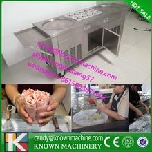 popular model pan frying ice Machine double round pan diameter 450mm fry ice cream machine ship by sea