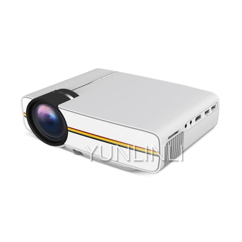 Мини-проектор с проводной синхронизацией и дисплеем, более стабильный, чем Wi-Fi проектор для домашнего кинотеатра, фильма YG400