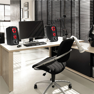 Image 4 - Novas luzes coloridas alto falante do computador 2.0 rgb luz de controle toque portátil mini alto falante super estéreo baixo para o jogo em casa