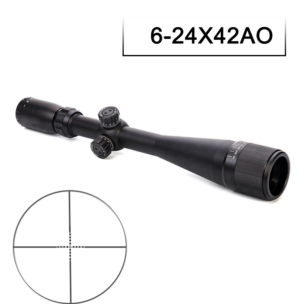 6-24X42 AO Tactical Riflescope Side Parallax Adjustment Mil-Dot Reticle Rifle Sights Sniper Scope For Hunting Scope