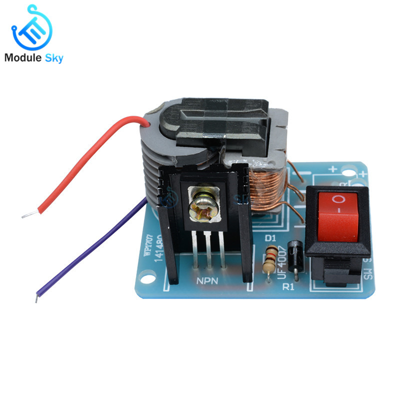 15kv High Frequency Dc High Voltage Arc Ignition Generator Inverter Boost Step-up 18650 Diy Kit U Core Transformer Suite 3.7v #3