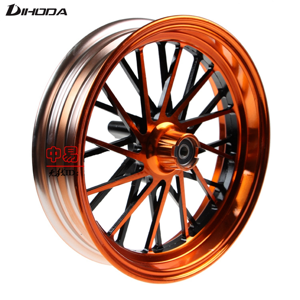 все цены на Universal 12*2.75 Aluminum Alloy Motorcycle modified front wheel Rims For Single Disc Disk Brake
