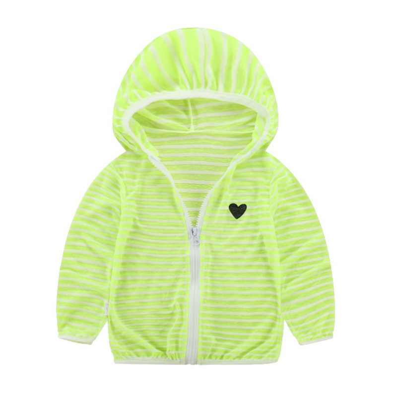 ילדי פסים מזגן בגדי בני בנות חדש לנשימה הגנה מפני שמש הלבשה עליונה 1-6Y חדש סגנון