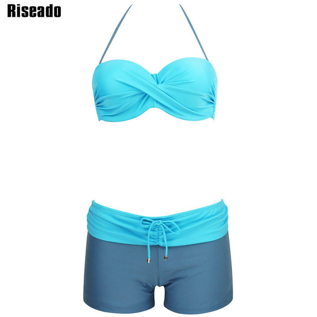 Riseado 2017 Sexy Bikini Set Swimwear Women New Summer Push Up Swimsuit Strap Shorts Beach Wear Summer Bathing Suits