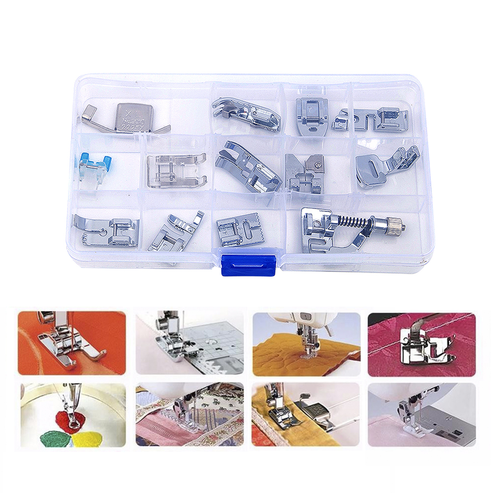 15pcs domestic sewing machine foot feet presser for home for Garden tools accessories