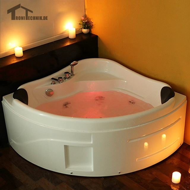 1300mm whirlpool Massage 2 person Bathtub Hot tub Wall Corner ...