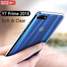 Huawei Y7 Prime 2018 Case Cover Silicone Ultra Thin TPU Mofi Clear Back 5.99