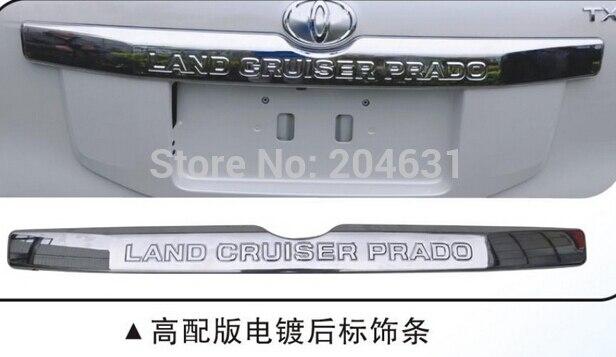 Chrome Rear Door Trunk Lid Cover TRIM for TO-- Prado LAND----CRUISER FJ150 2014 2015 black rear trunk cargo cover shade for toyota land cruiser prado fj150 2010 2011 2012 2013 2014 2015