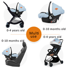 Travel System Stroller & Car Seat Foldable Baby Pram with Carrycot Set