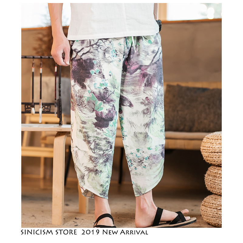 Trousers Harem-Pants Hip-Hop Chinese-Style Summer Plus-Size Mens Male Sinicism Store