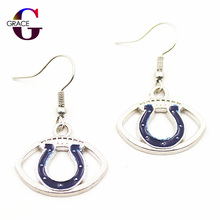 1pair Women Fashon Jewelry Drop Earrings Indianapolis Colts Logo Football Team Charms Sports Fan Alloy